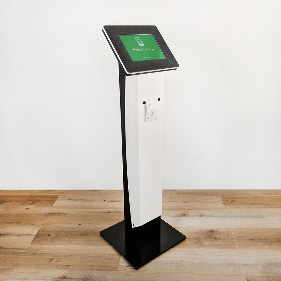 A printer kiosk from iPadKiosks.com.
